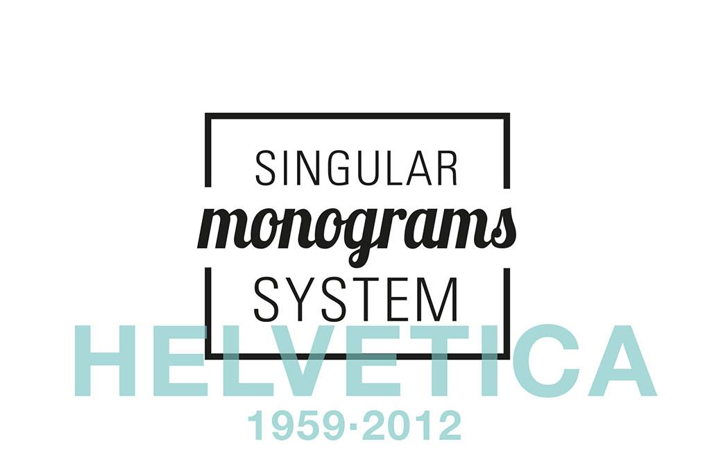 Singular Monograms System Helvetica idea di Silvio Cocco